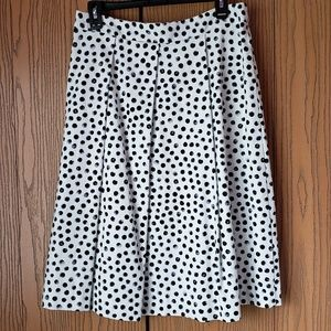 White and black polka skirt